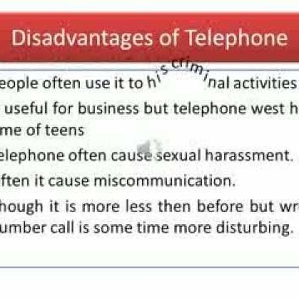 Advantages And Disadvantages Of Telephone Essay Examples