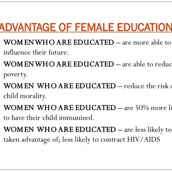 Advantages Of Female Education Essay Examples