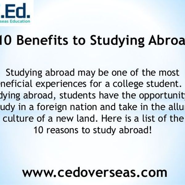 Advantages Of Studying Abroad Essay Examples