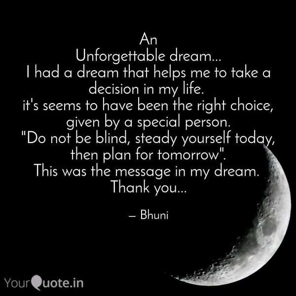 An Unforgettable Dream Essay Examples