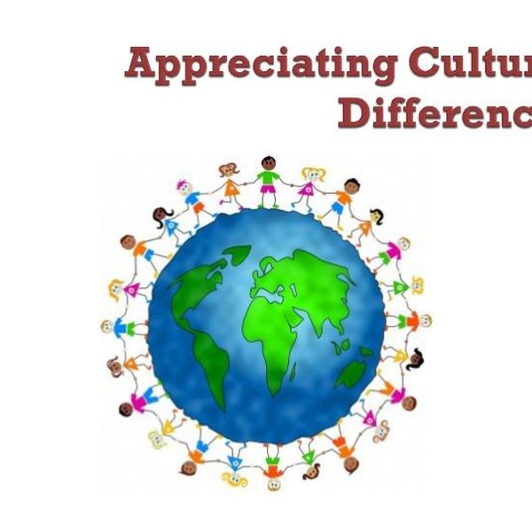 Appreciating Cultural Values Essay Examples