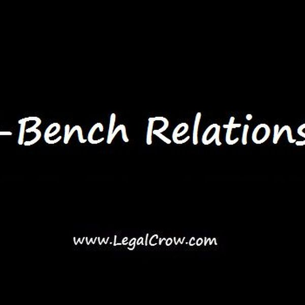 Bar Bench Relations Essay Examples