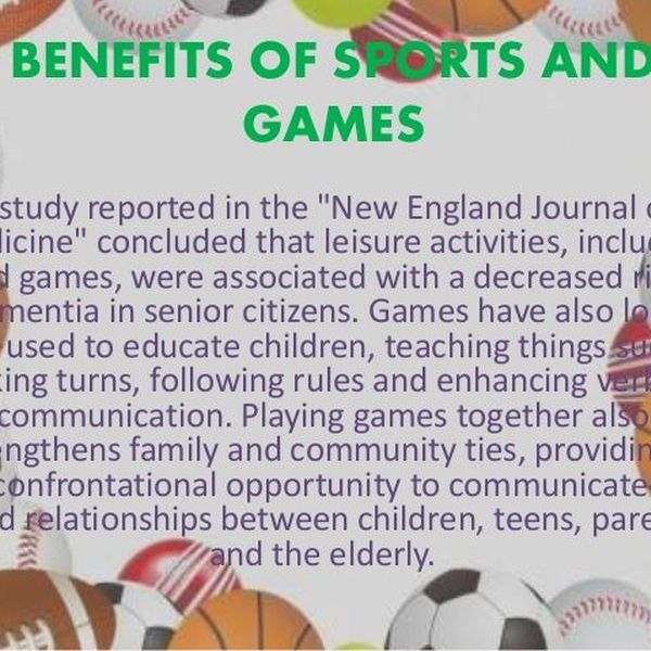 Benefits Of Games And Sports Essay Examples