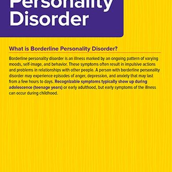 Borderline Personality Disorder Essay Examples