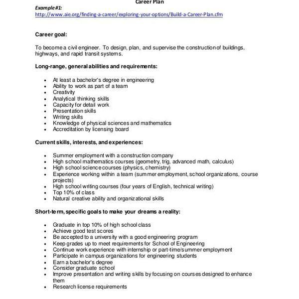 Career Goals In Engineering Essay Examples