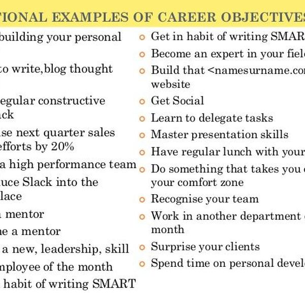 Career Goals Essay Examples