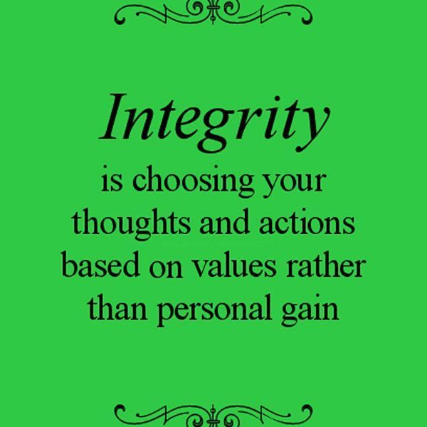 Character And Integrity Essay Examples