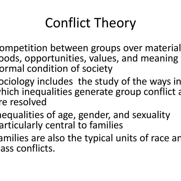 Conflict Theory Sociology Essay Examples