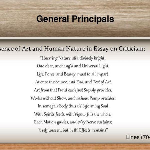 Criticism Alexander Pope Essay Examples