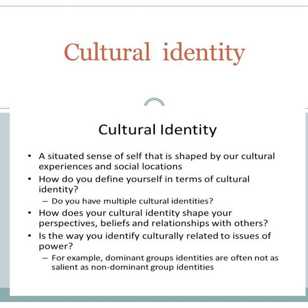 Cultural Identity Essay Examples