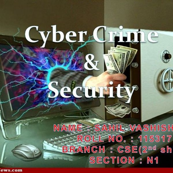 Cybercrime And Security Essay Examples