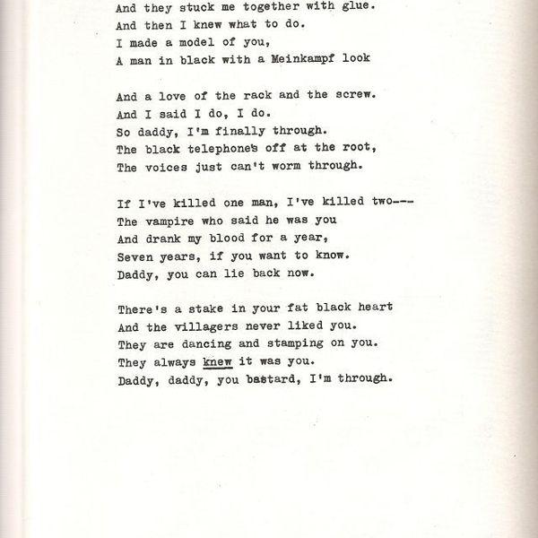 Daddy By Sylvia Plath Essay Examples