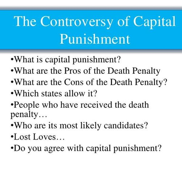 Death Penalty Pros And Cons Essay Examples