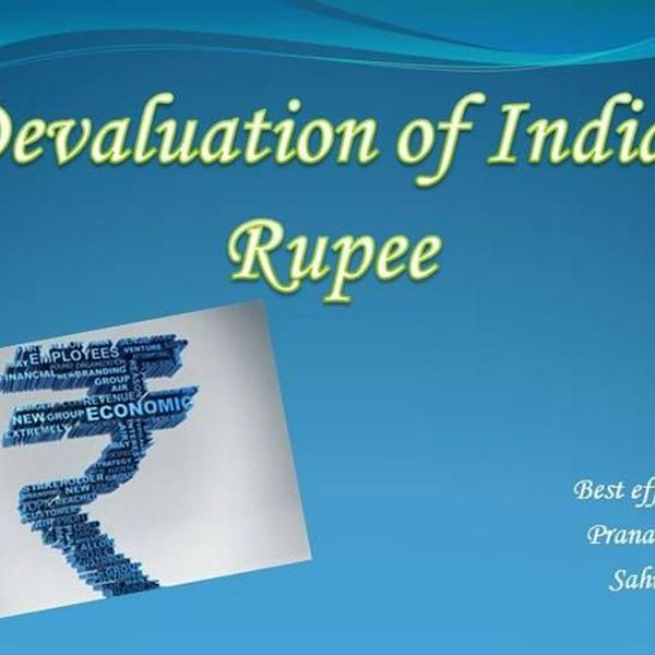 Devaluation Of Indian Currency Essay Examples