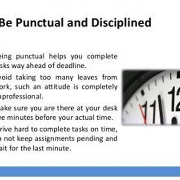 Discipline And Punctuality Essay Examples