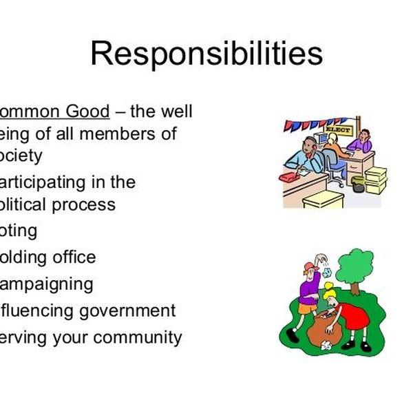 Duties Of A Responsible Citizen Essay Examples