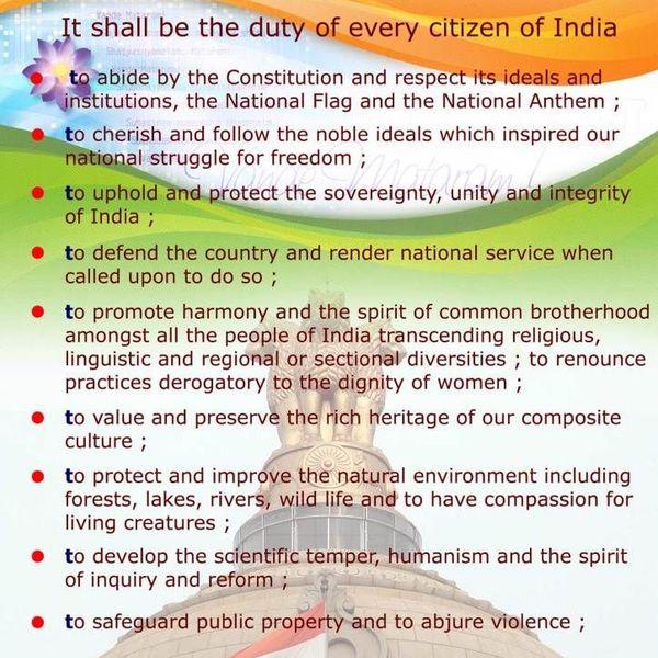 Duties Of Indian Citizen Essay Examples
