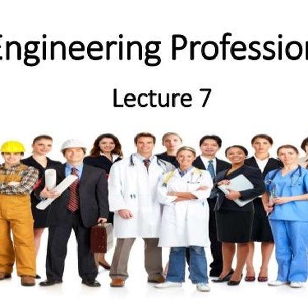Engineering Profession Essay Examples