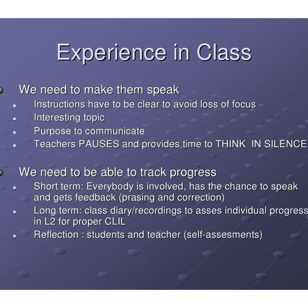 English Class Experience Essay Examples