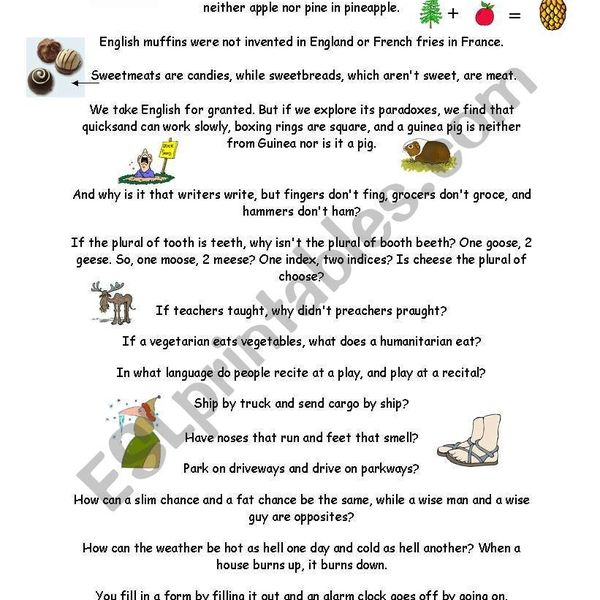 English Is A Funny Language Essay Examples