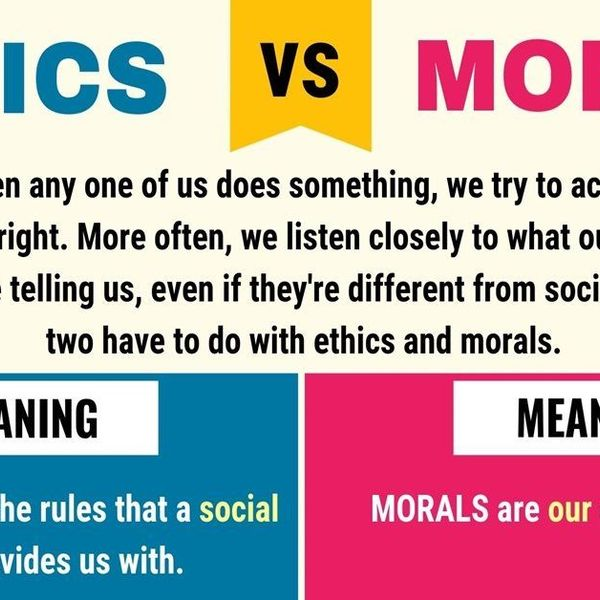Ethics And Morals Essay Examples