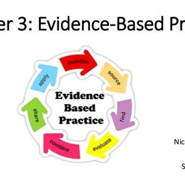 Evidence Based Practice Essay Examples