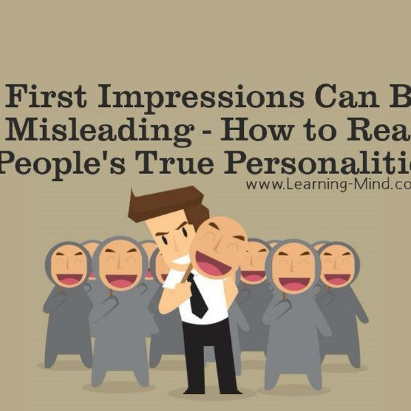 First Impression Can Be Misleading Essay Examples