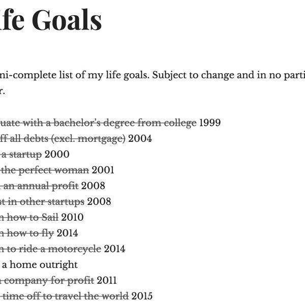 Goals Of My Life Essay Examples