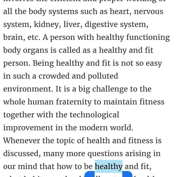 Health And Fitness For Asl Essay Examples