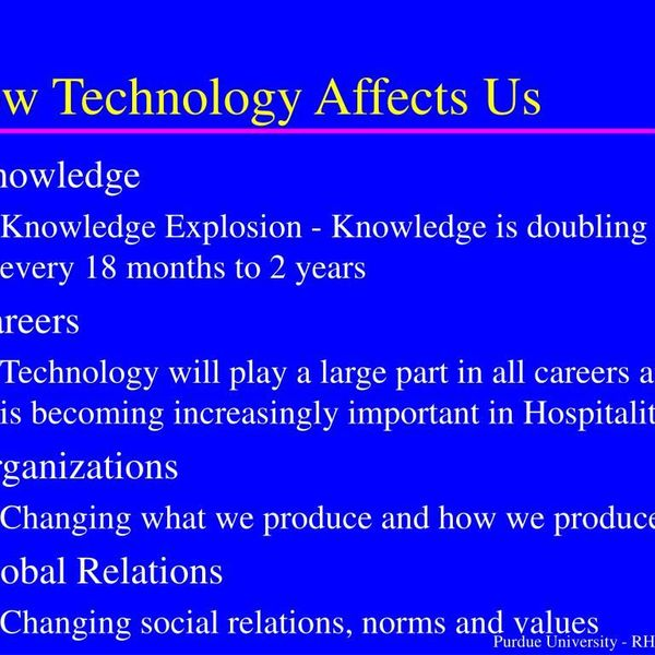 How Technology Affects Us Essay Examples