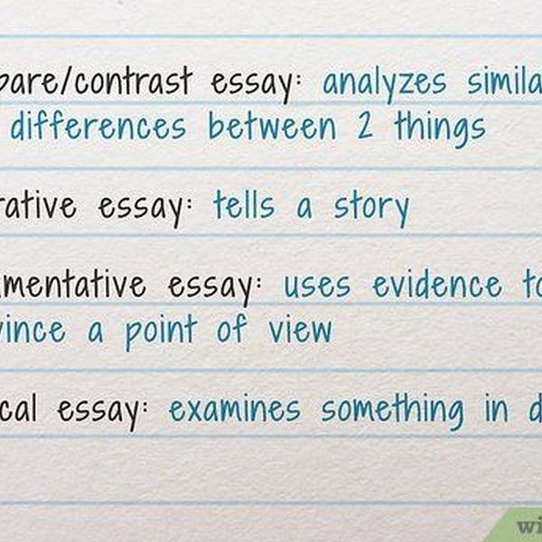 How To Write An Essay Essay Examples