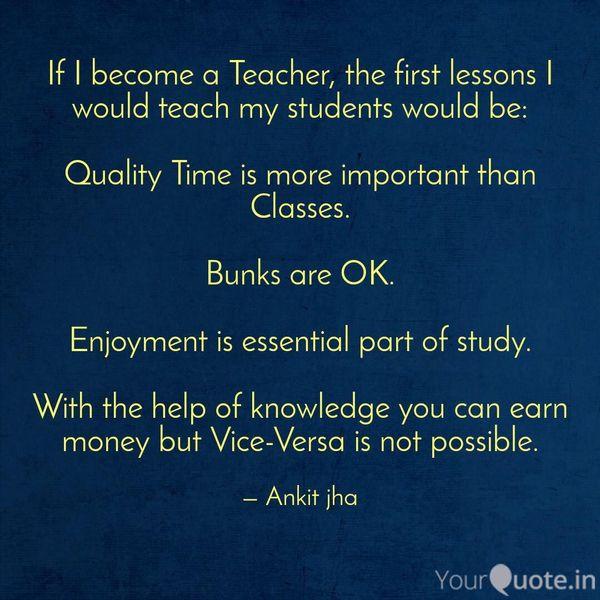 If I Become A Teacher Essay Examples