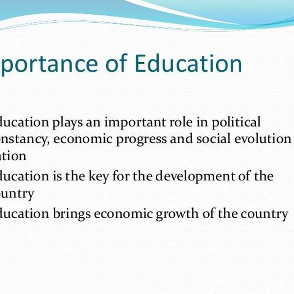 Importance Of Education In Pakistan Essay Examples