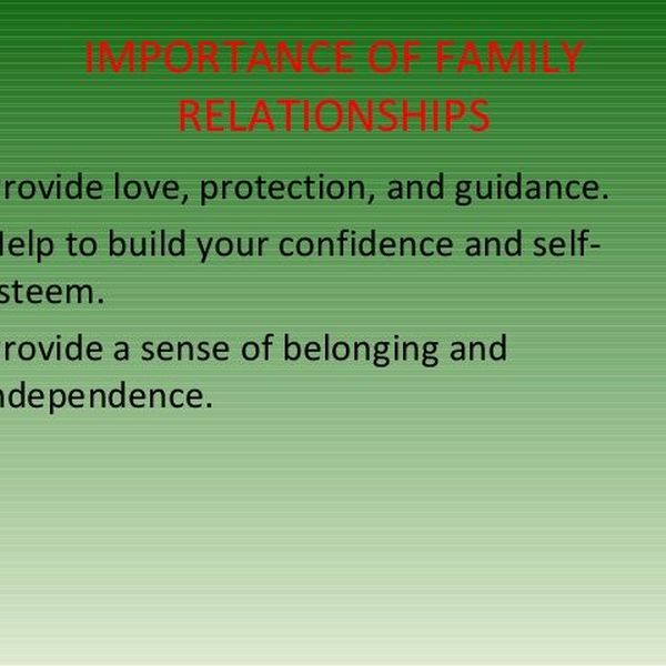 Importance Of Family Relationships Essay Examples