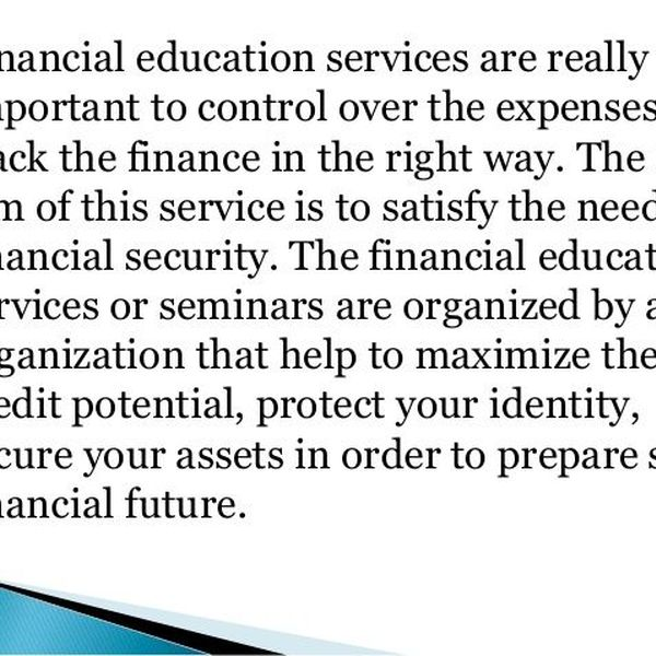 Importance Of Financial Education Essay Examples