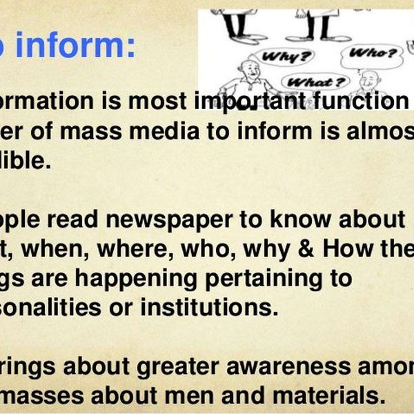 Importance Of Mass Media Essay Examples