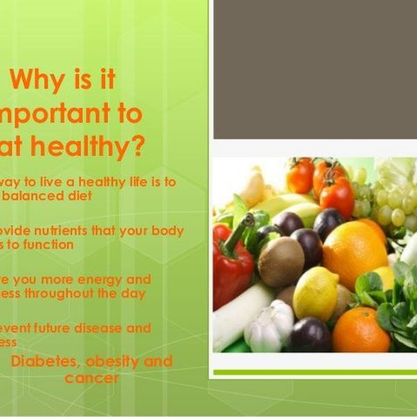 Importance Of Nutritious Food Essay Examples