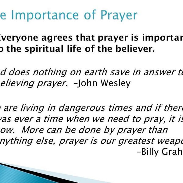 Importance Of Prayer In Life Essay Examples