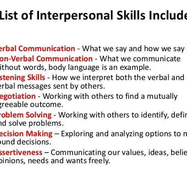 Interpersonal Communication Skills Essay Examples