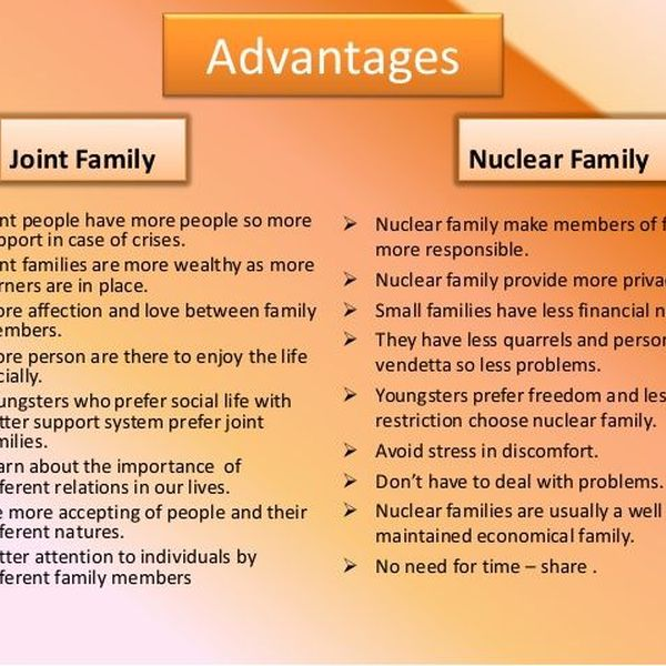 Joint Family Advantage And Disadvantage Essay Examples