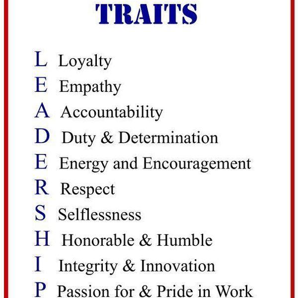 Leadership Traits Essay Examples
