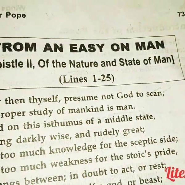 Man Epistle 2 Essay Examples