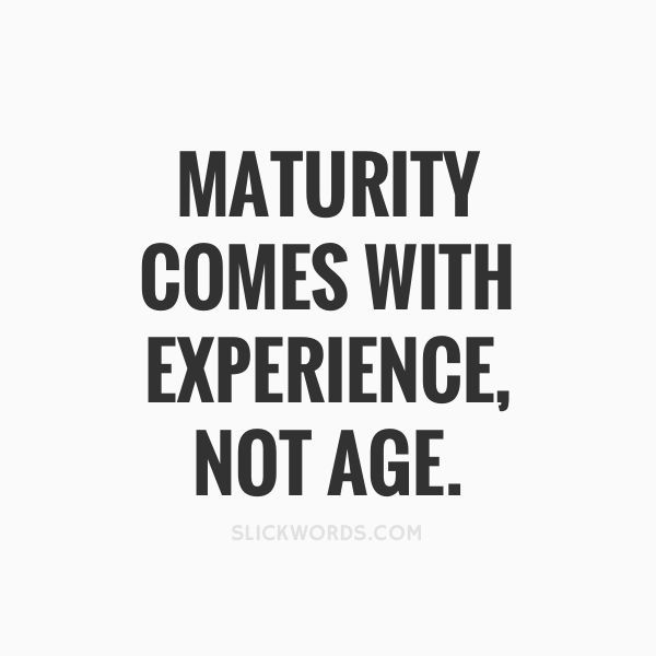 Maturity Comes With Age Essay Examples