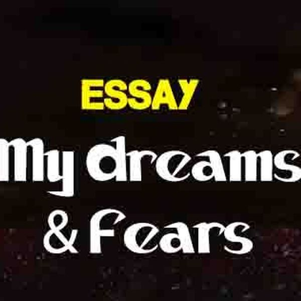 My Dreams And Fears Essay Examples