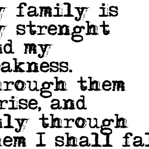 My Family My Strength Essay Examples