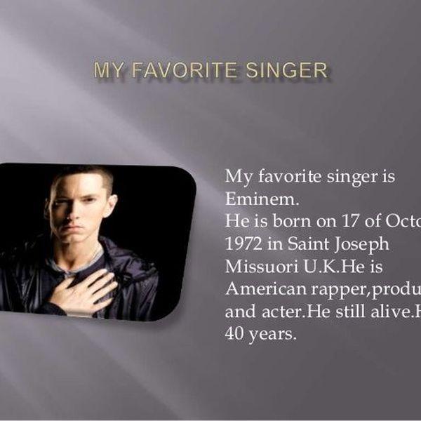 My Favorite Singer Essay Examples