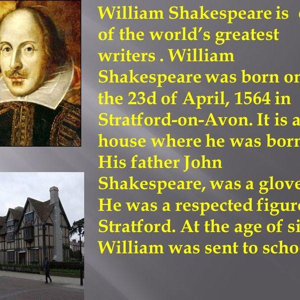 My Favourite Author William Shakespeare Essay Examples
