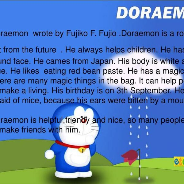My Favourite Cartoon Doraemon Essay Examples