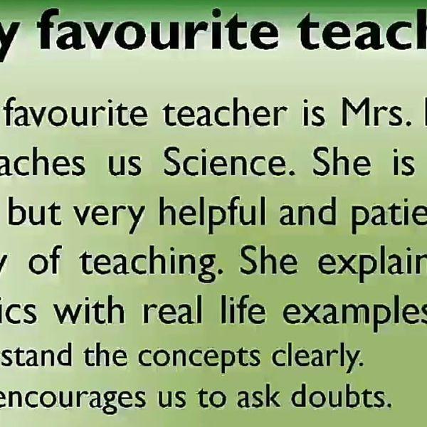 My Favourite Teacher Essay Examples
