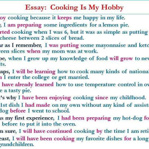 My Hobby Cooking Essay Examples